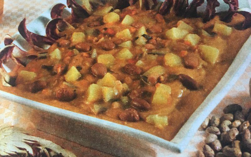 Zuppa di fagioli con radicchio